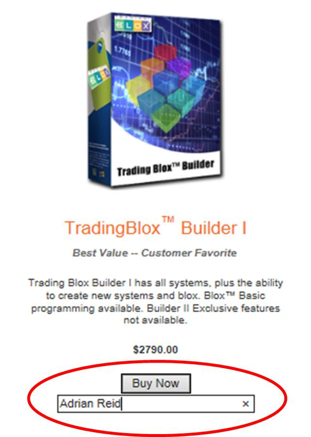 Trading Blox Purchase - Trading System Life Offer