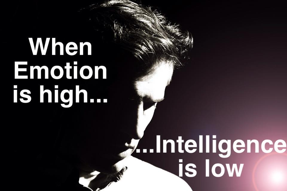 When emotion is high, trading intelligence is low